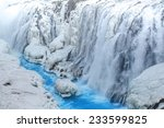 Frozen Waterfall With Clea Blu...