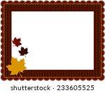 fall gingham frame gingham...   Shutterstock .eps vector #233605525