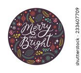 Merry And Bright Lettering In...