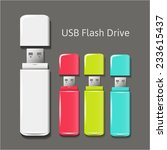 universal flash drive isolated... | Shutterstock .eps vector #233615437