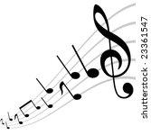 mirored musical theme | Shutterstock .eps vector #23361547
