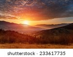 early morning in mountains in... | Shutterstock . vector #233617735