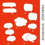 blank empty white speech bubbles | Shutterstock .eps vector #233618461