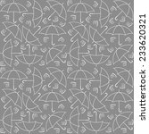 grey umbrella pattern | Shutterstock .eps vector #233620321