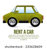 rent a car over white... | Shutterstock .eps vector #233628604