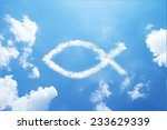clouds shaped like a christian... | Shutterstock . vector #233629339