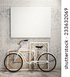 mock up poster and canvas in... | Shutterstock . vector #233632069