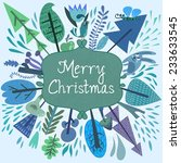 merry christmas card with... | Shutterstock .eps vector #233633545