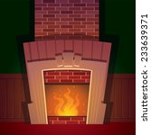 cartoonish style fireplace in...   Shutterstock .eps vector #233639371