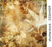 vintage leafy background - stock photo