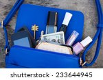 blue women's purse. things...   Shutterstock . vector #233644945
