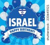happy birthday israel   happy... | Shutterstock .eps vector #233645521