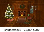 3d illustration of a christmas... | Shutterstock . vector #233645689