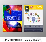 abstract geometric brochure... | Shutterstock .eps vector #233646199