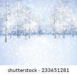 winter snow landscape. | Shutterstock . vector #233651281