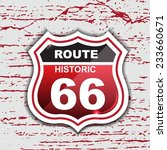 route 66 sign set   origami  ... | Shutterstock .eps vector #233660671