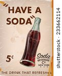 Vintage Soda Advert With A...
