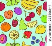 fresh fruit seamless pattern... | Shutterstock .eps vector #233666944