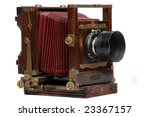 Old Wood Frame Photo Camera...