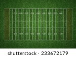 green grass american football... | Shutterstock . vector #233672179