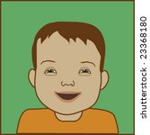 child with down syndrome | Shutterstock .eps vector #23368180