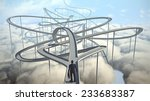 businessman chooses the path... | Shutterstock . vector #233683387