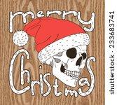Christmas Illustration Of Skul...