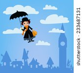 mary poppins flies over london