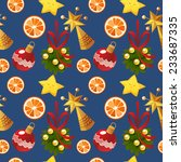seamless christmas pattern with ... | Shutterstock .eps vector #233687335