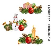christmas elements isolated.   Shutterstock .eps vector #233688055