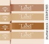 label design over beige