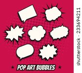 vintage pop art comics speech... | Shutterstock .eps vector #233694211