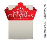 merry christmas design over... | Shutterstock .eps vector #233699275