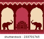 traditional indian temple...   Shutterstock . vector #233701765