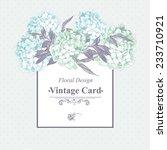 gentle blue vintage floral... | Shutterstock .eps vector #233710921