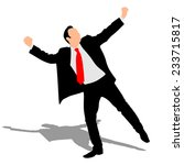 business man expressing winning ... | Shutterstock .eps vector #233715817