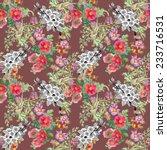 watercolor wildflowers seamless ... | Shutterstock . vector #233716531