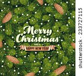 christmas card a pine branches | Shutterstock .eps vector #233727115