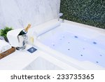 champagne glass and jacuzzi spa ... | Shutterstock . vector #233735365