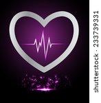 dark purple pulse light... | Shutterstock .eps vector #233739331