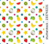 fruit icons pattern with...   Shutterstock .eps vector #233743231