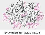 alphabet letters  uppercase ... | Shutterstock .eps vector #233745175