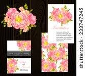 set of invitations with floral... | Shutterstock .eps vector #233747245