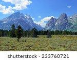 mountains of the grand teton... | Shutterstock . vector #233760721