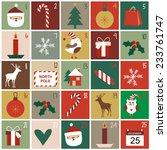 advent calendar   Shutterstock .eps vector #233761747