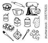 baking hand drawn set | Shutterstock .eps vector #233770321