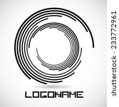 vector circular lines logo...