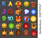 symbols for slots game. vector... | Shutterstock .eps vector #233774767