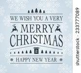 lettering design christmas card | Shutterstock .eps vector #233777089