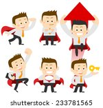 businessman set | Shutterstock .eps vector #233781565